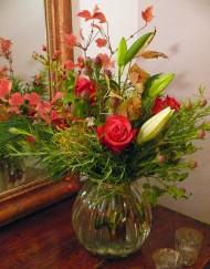Bouquet automne rose et lys